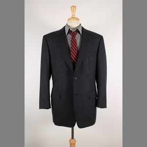 #Canali 52/42R Gray Solid Wool 2B Sport Coat 70-7
